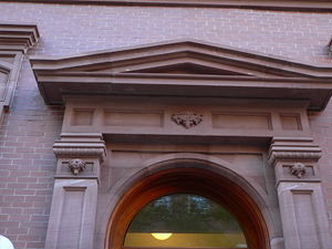 Pediment over doorway